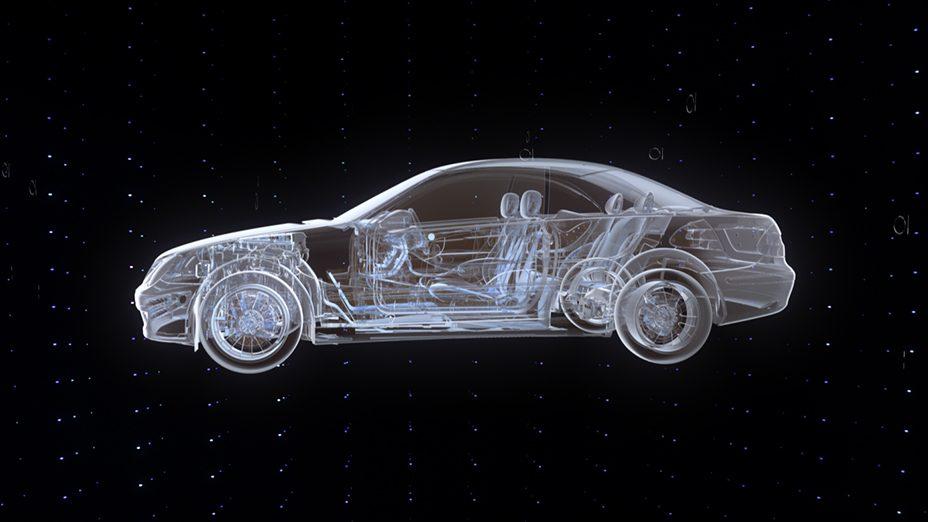 ISODESIGN MB World 3D film car skeleton profile